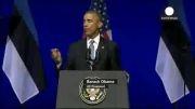 سفر اوباما به استونی پیامی به روسیه
