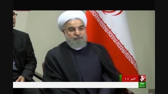 دکتر روحانی ، سیاهپوش وارد تهران شد