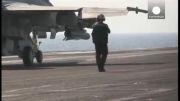 حمله هوایی آمریکا به مواضع داعش در سوریه