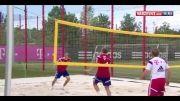والیبال بازی کردن بازیکنان بایرن مونیخ
