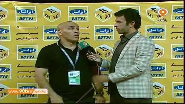 مصاحبه مربیان نفت و ملوان بعد از بازی