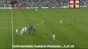 اخراج جنجالی دیوید بکام در بازی انگلیس-آرژانتین جام جهانی 98