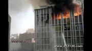 فیلم دیده نشده از سقوط زن کارگر در آتش