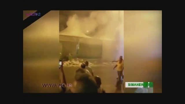 آتش سوزی چادرهای حجاج مصری در منا