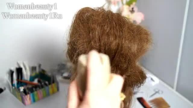 آموزش شنیون برای موهای بلند