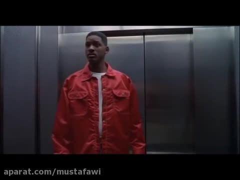 صحنه آزمون استخدام مردان سیاه پوش 1 (ویل اسمیت)