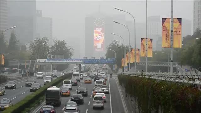 پکن در مه و ذرات آلاینده و معلق فرو رفت