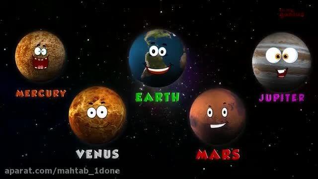 دانلود شعر انگلیسی سیاره های منظومه شمسی با یک ویژگی