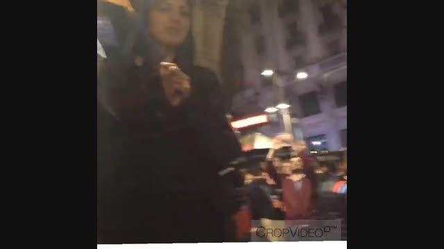 هلیا امامی در جشن پیروزی بارسا