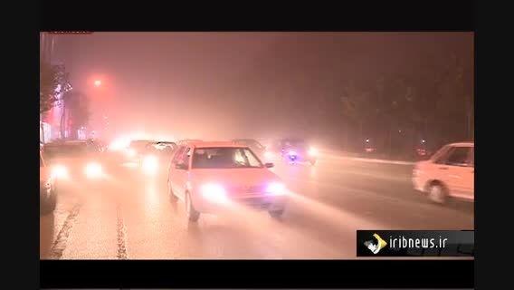 دیشب طوفانی با سرعت بیش از 70 کیلومتر تهران را درنوردید