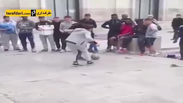 فوتبال خیابانی و لایی زدن دختر به پسر پر مدعا