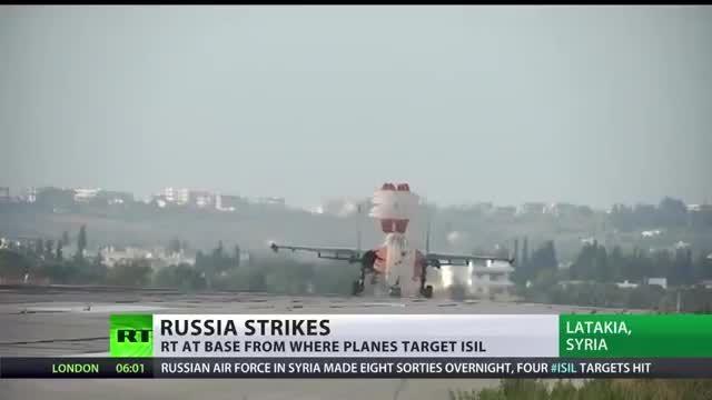 آماده سازی جنگنده های سوخو روسی برای حمله به داعش