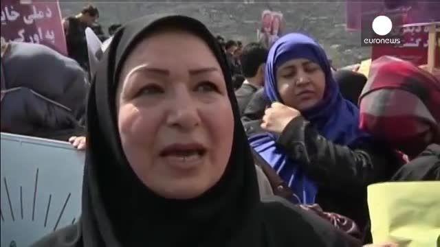تظاهرات کم نظیر در کابل برای محاکمه عاملان قتل فرخنده