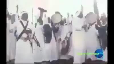 رقص و دلقک بازی ملک سلمان نزد شاه ایران