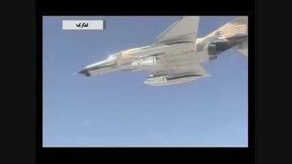 لحظه شلیک موشک ماوریک از جنگنده فانتوم F4 و سوخو 24