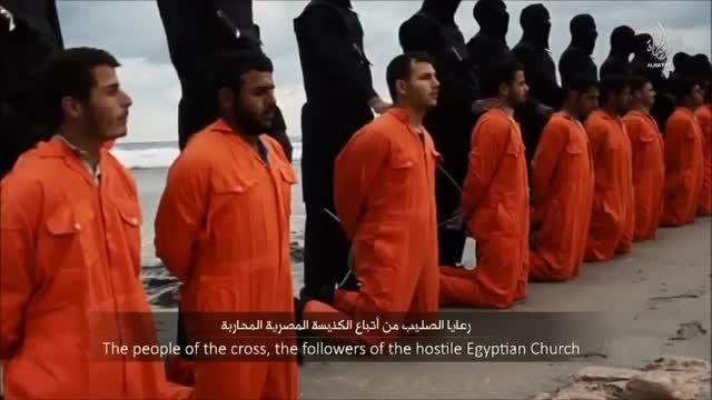 سر بریدن 21 مرد مصری توسط داعش