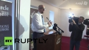 پاشیدن سیب زمینی و سس به وزیر خارجه بلژیک