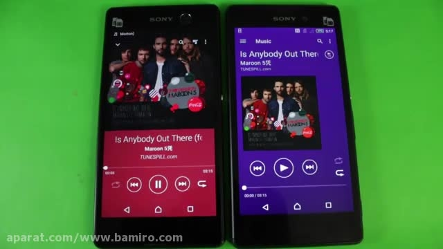 فیلم مقایسه Xperia m5 با Sony Xperia M2 Aqua از بامیرو