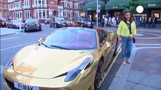 جولان اتومبیل های گران قیمت اعراب در خیابان های انگلیس