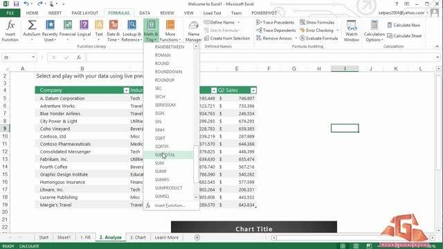 آموزش Excel -قسمت پنجم(پایانی)-آموزش فرمول نویسی دراکسل