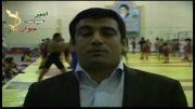 حمایت حمید بنی تمیم قهرمان کشتی فرنگی جهان و آسیا از امیر عباس جوان