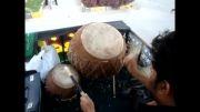 آیین سنتی دهل زنی محرم در کازرون 2
