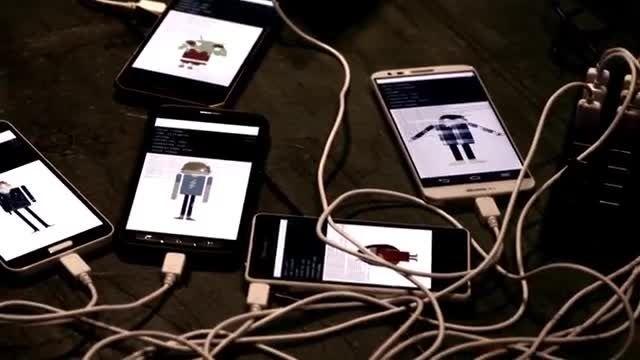 کنسرت و هم نوایی صدها گوشی و تبلت در تبلیغ اندروید