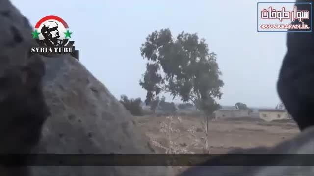 کشته شدن تک تیرانداز داعشی توسط تک تیرانداز ارتش سوریه!