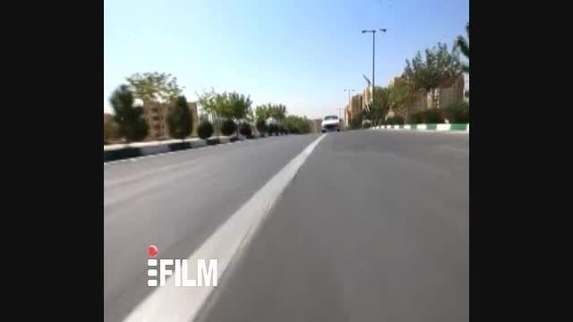 صحنه تصادف در سریال «دیوار»