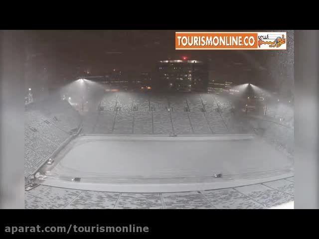 13 بار برف روبی یک استادیوم ،ناکام ماند!