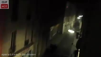 لحظه انفجار اولین زن انتحاری پاریس