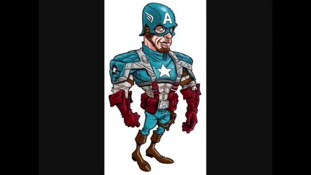 کاریکاتور قهرمانان قسمت 3 (کاپیتان آمریکا)