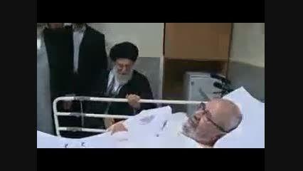 عیادت رهبر از عبد الهادی الفضلی از نوابغ حوزه علمیه