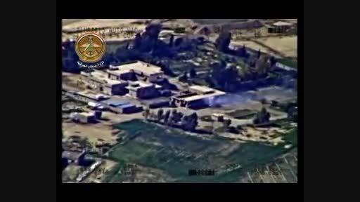 بمباران خودروهای داعش در الانبار