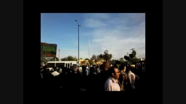 استقبال باشکوه مردم همدان از پیکر سردار شهید همدانی