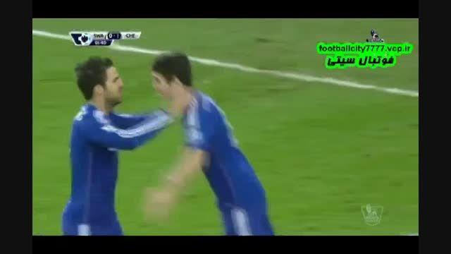 خلاصه بازی سوانزی 0 - 5 چلسی(لیگ برتر جزیره)