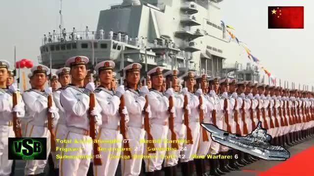 قدرت نیروی دریایی چین 2015