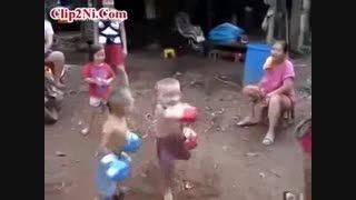 مبارزه جذاب و بسیار دیدنی بکس دو کودک 5ساله