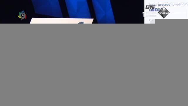 لحظه رأی دادن کفاشیان در انتخابات فیفا