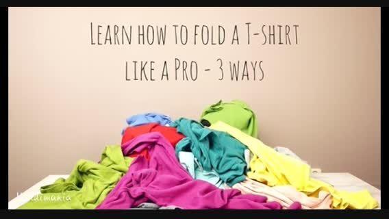 2 راه ساده برای تا کردن تی شرت