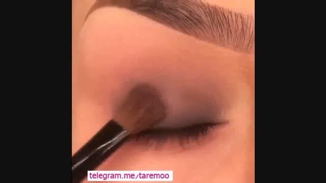 میکاپ چشم با سایه مشکی زیبا در تارمو