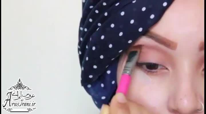 آموزش کامل آرایش 30 - مدل آرایش چشمان کهکشانی