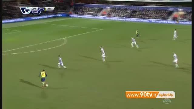 گلهای بازی: کوئینزپارک رنجرز ۱-۲ آرسنال