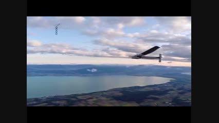 پرواز رویایی با هواپیمای خورشیدی