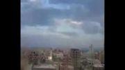 لحظه سقوط جنگنده ارتش لیبی