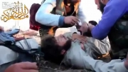 وحشت تروریست سوری پس از اصابت گلوله!