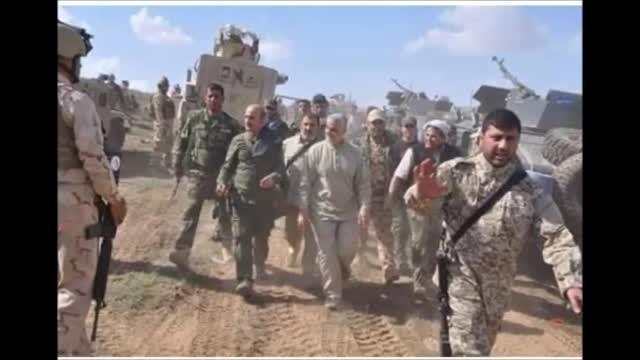 تصویر سردار سلیمانی با فرمانده حشدالشعبی ابومهدی -سوریه