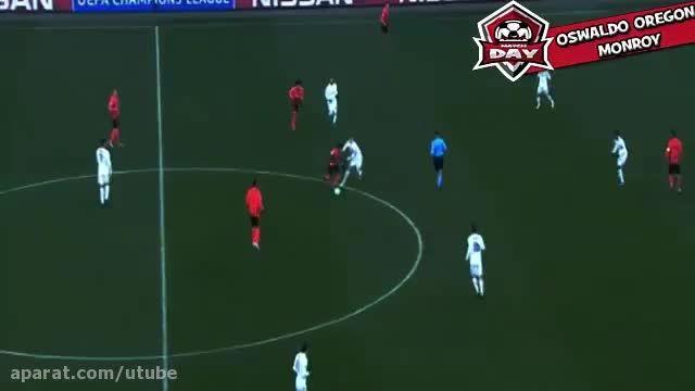 گل رونالدو دوم رئال مادرید مقابل شاختار دونتسک