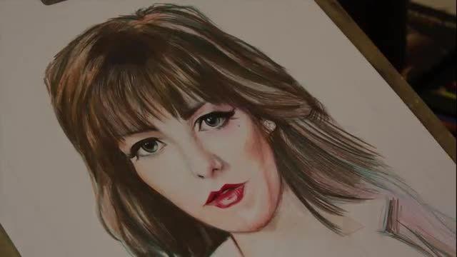 نقاشی چهره رنگی