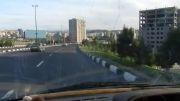 رانندگی توریست فرانسوی Christine Alessandrini در تبریز